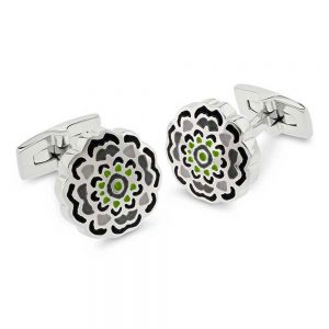 Drakes Jewellers Plymouth, Duncan Walton, Appleton Grey and green Cufflinks