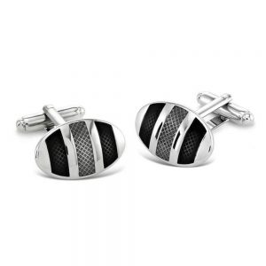Drakes Jewellers Plymouth, Duncan Walton, cufflinks, Gift For Him, Kinver Grey Cufflinks