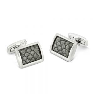Drakes Jewellers Plymouth, Coeur de lion, gift for her, Grey cladar cufflinks