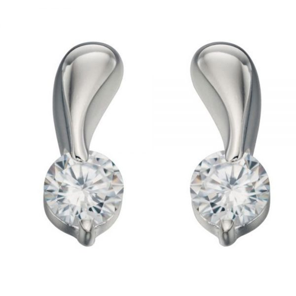 Drakes jewellers Plymouth, Fred Bennet, Gift For Him, silver stone stud earrings