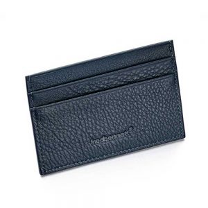 Drakes jewellers Plymouth, Fred Bennet, Gift For Him, blue leather cardholder