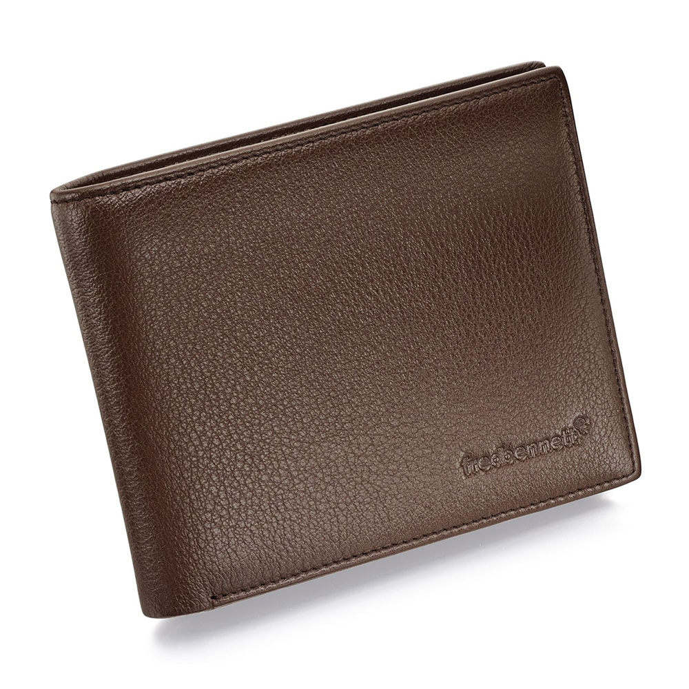 Drakes jewellers Plymouth, Fred Bennet, Gift For Him, brown leather wallet