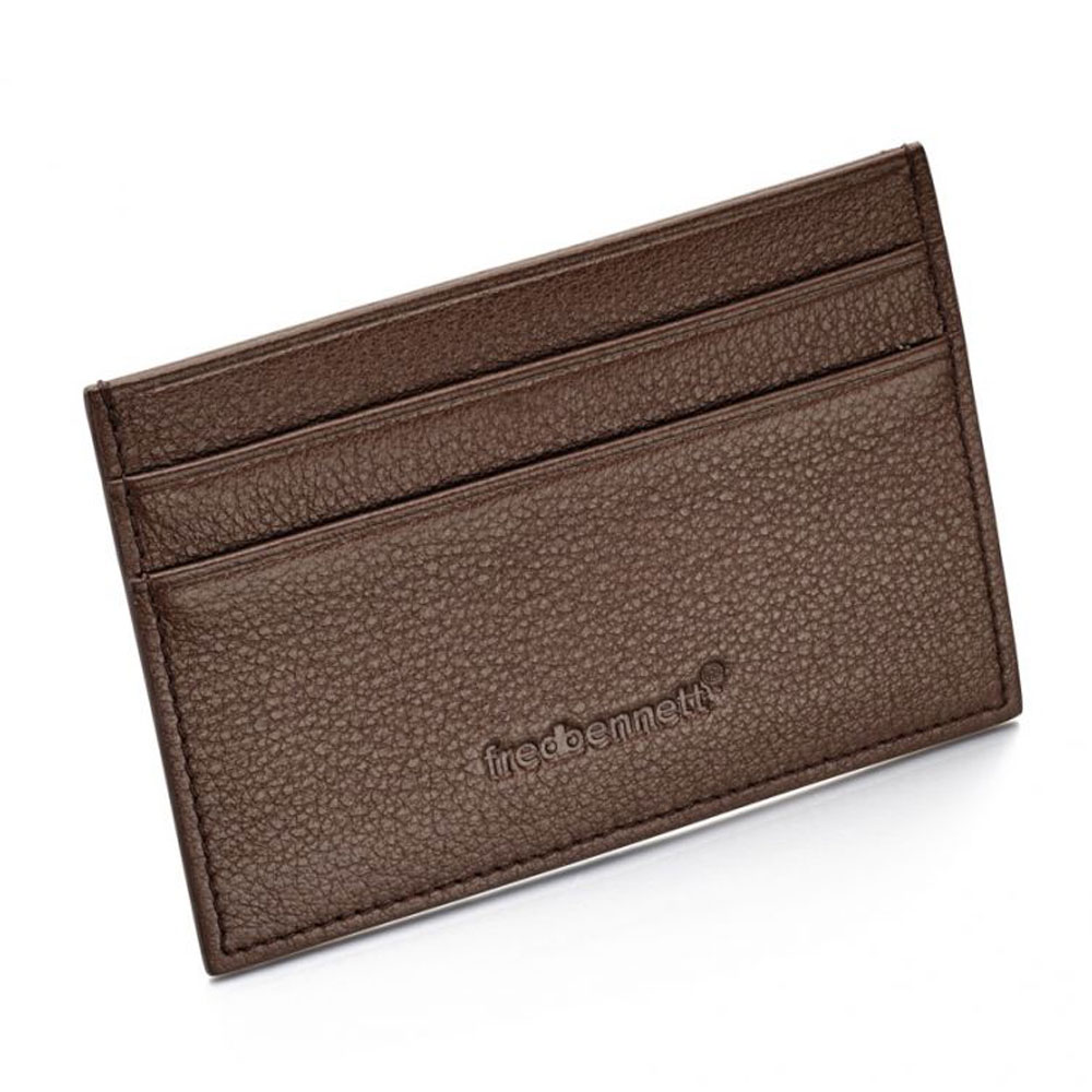 Drakes jewellers Plymouth, Fred Bennet, Gift For Him, brown leather cardholder