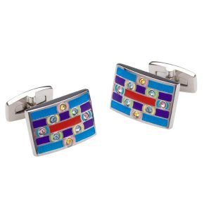 Drakes Jewellers Plymouth, Duncan Walton, Cufflinks, Multi-coloured cufflinks