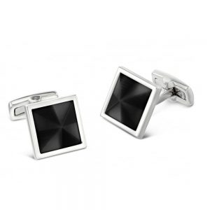 Drakes Jewellers Plymouth, Duncan Walton, cufflinks, black square cufflinks