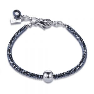 Drakes Jewellers Plymouth, Coeur de lion, gift for her, hematite silver bracelet