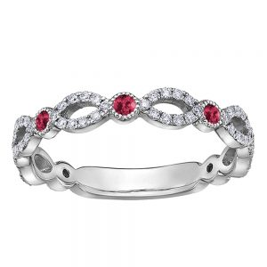 Drakes jewellers Plymouth, white gold ring, diamond ring, Gift For Her, oval and circle ruby diamond ring