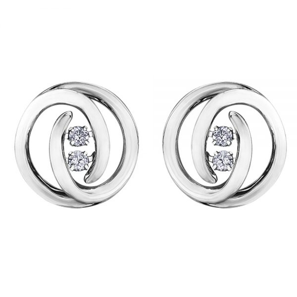 Drakes jewellers Plymouth, white gold ring, diamond Earrings, Gift For Her, round pulse stud earrings, white gold diamond studs