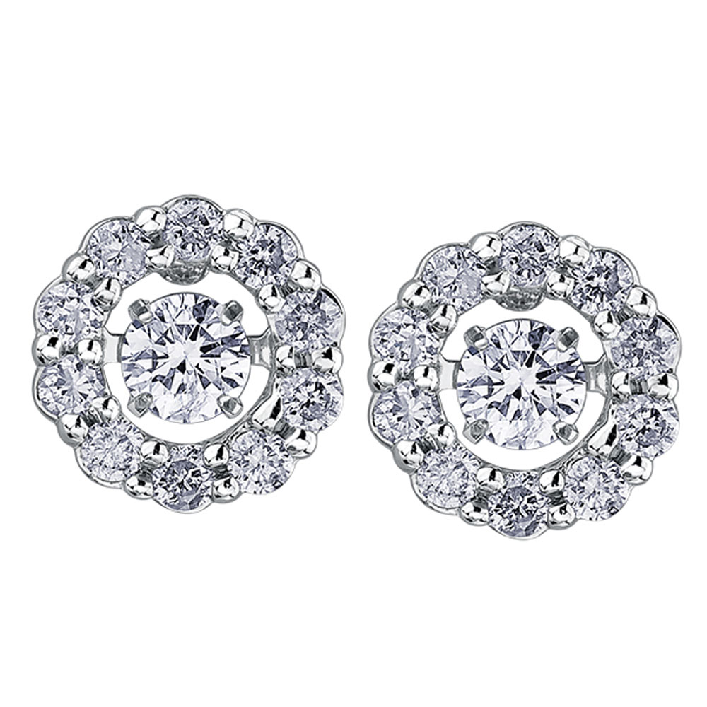 Drakes jewellers Plymouth, white gold ring, diamond Earrings, Gift For Her, diamond pulse round stud earrings