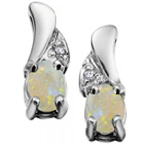 Drakes jewellers Plymouth, white gold ring, diamond Earrings, Gift For Her, opal stud earrings