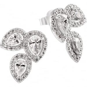Drakes Jewellers Plymouth, Diamonfire, Gift For Her, 3 pear cluster earrings