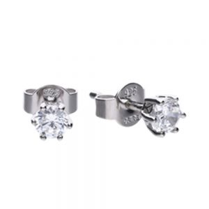 Drakes Jewellers Plymouth, Diamonfire, Gift For Her, Silver Diamond sTuds