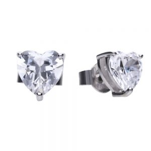 Drakes Jewellers Plymouth, Diamonfire, Gift For Her, heart stud earrings