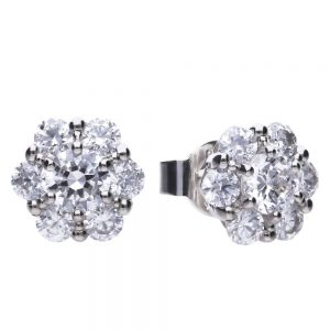 Drakes Jewellers Plymouth, Diamonfire, Gift For Her, flower cz studs