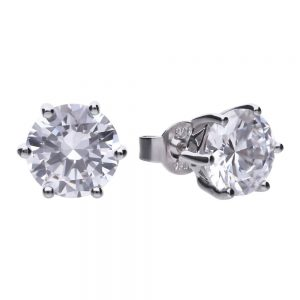Drakes Jewellers Plymouth, Diamonfire, Gift For Her, silver 2ct stud earrings