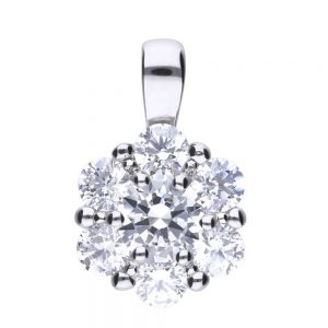 Drakes Jewellers Plymouth, Diamonfire, Gift For Her, flower cz pendant