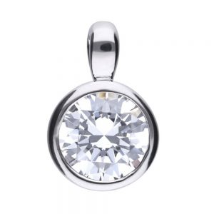 Drakes Jewellers Plymouth, Diamonfire, Gift For Her, silver round pendant