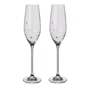 Drakes Jewellers Plymouth, Dartington, Gift For Her, Gift For Him, Homeware gift, Wedding Gift, champagne flute glasses