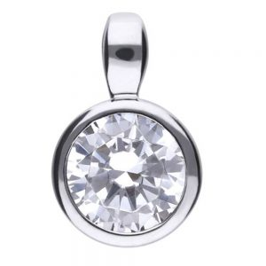 Drakes Jewellers Plymouth, Diamonfire, Gift For Her, Round Cz Pendant