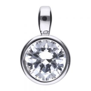 Drakes Jewellers Plymouth, Diamonfire, Gift For Her, round silver pendant