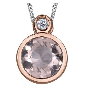 Drakes jewellers Plymouth, Thomas Sabo, jewellery, gift for her, rose gold morganite pendant
