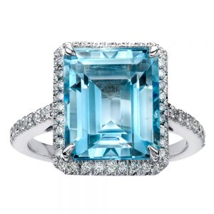 Drakes jewellers Plymouth, Thomas Sabo, jewellery, gift for her, rectangle blue topaz ring