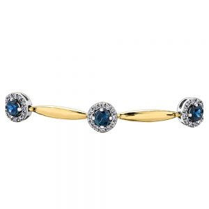 Drakes jewellers Plymouth, jewellery, gift for her, Diamonds, yellow gold sapphire bracelet