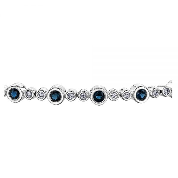 Drakes jewellers Plymouth, jewellery, gift for her, Diamonds, Sapphire diamond bracelet