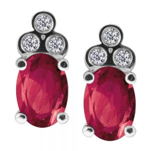 Drakes jewellers Plymouth, jewellery, gift for her, Diamonds, ruby diamond stud earrings