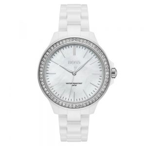 Drakes Jewellers Plymouth, Hugo Boss Watch, Victoria white ceramic watch
