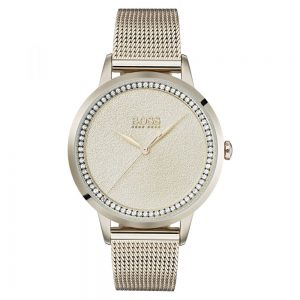 Drakes Jewellers Plymouth, Hugo Boss Watch, twilight Swarovski mesh rose gold watch