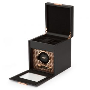 Drakes Jewellers Plymouth, Wolf, Jewellery Case, axis winder Copper