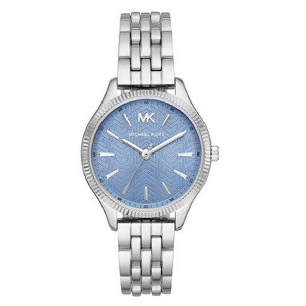 Drakes Jewellers Plymouth, Michael Kors jewellery, Watch, Michael Kors Watch, Gift For Her, Silver blue face watch