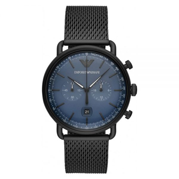 Drakes Jewellers Plymouth, Watch, Emporia Armani, Gift For him, Black mesh Watch