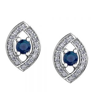 Drakes jewellers Plymouth, jewellery, gift for her, Diamonds, white gold sapphire stud earrings