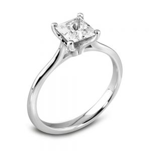 Diamond Ring, Princess Cut Diamond Ring, Drakes Jewellers, Plymouth, Drakes