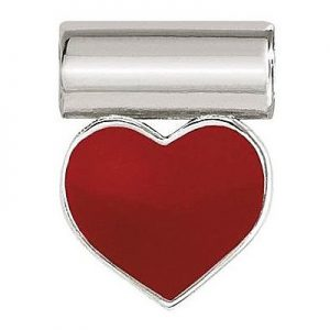 Drakes Jewellers Plymouth, Nomination, Gift For Her, silver heart red enamel charm