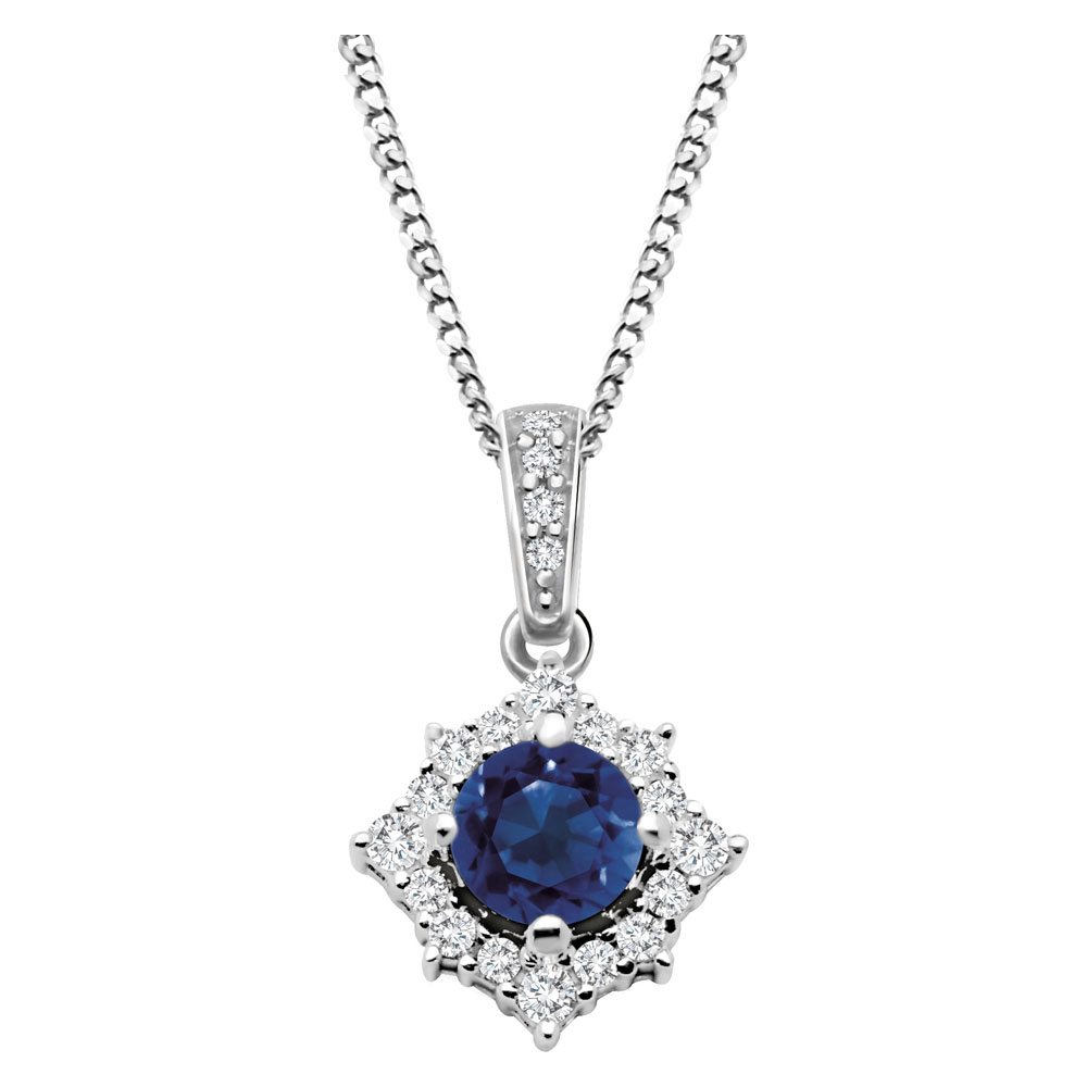 Drakes Jewellers Plymouth, Diamond Ring, Gift For Her, sapphire diamond pendant