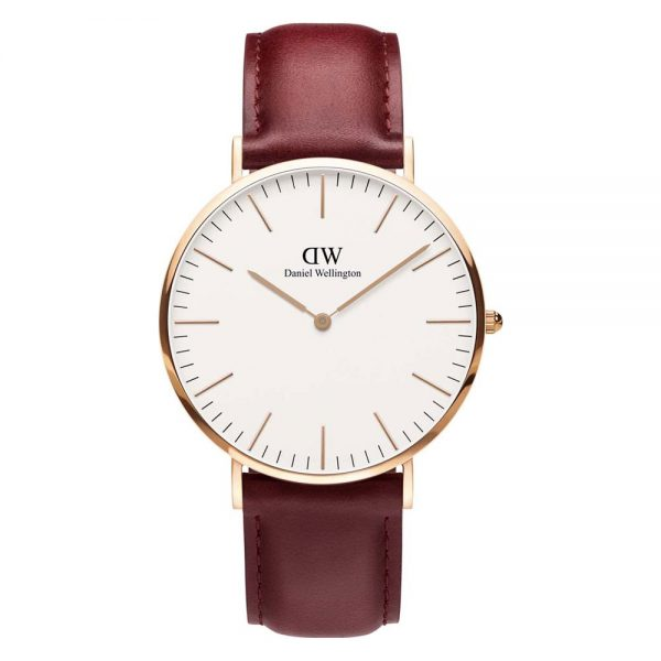 Drakes Jewellers Plymouth, Daniel Wellington, Gift For Him,Leather Strap Watch