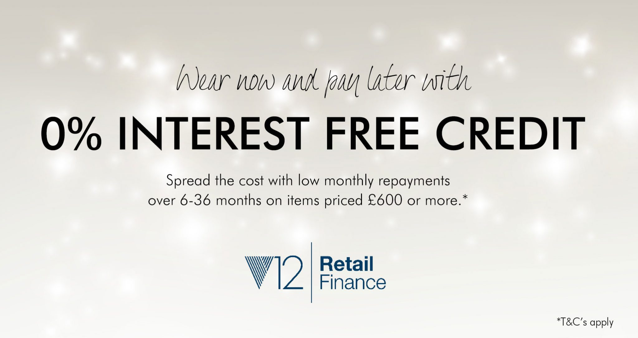 Drakes Jewellers, Interest free credit