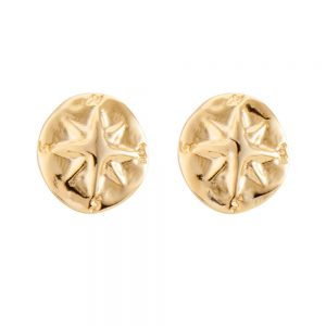 Drakes Jewellers Plymouth, Uno De 50, Gold Plated Stud Earrings
