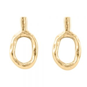 Drakes Jewellers Plymouth, Uno De 50, Yellow Gold Round drop earrings