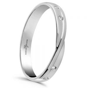 Drakes Jewellers Plymouth, Gift For Her, Wedding Ring, platinum twist diamond ring