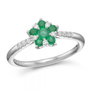 Drakes Jewellers Plymouth, Diamond Ring, Gift For Her, emerald hexagonal diamond ring