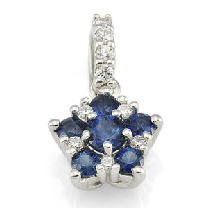 Drakes Jewellers Plymouth, Diamond Pendant, Gift For Her, sapphire pedant