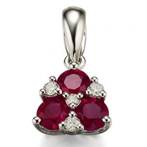 Drakes Jewellers Plymouth, Diamond Pendant, Gift For Her, ruby diamond pendant