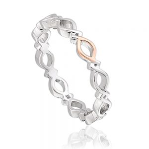 Drakes Jewellers Plymouth, Clogau Jewellery, Gift For Her, Welsh Gold, Clogau Infinity Ring