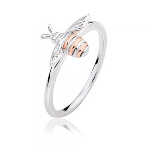 Drakes Jewellers Plymouth, Clogau Jewellery, Gift For Her, Welsh Gold, honey bee ring