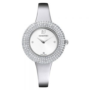 Drakes Jewellers Plymouth, Swarovski Jewellery, Gift For Her, Silver crystal watch