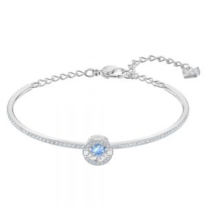 Drakes Jewellers Plymouth, Swarovski Jewellery, Gift For Her, silver blue bangle bracelet